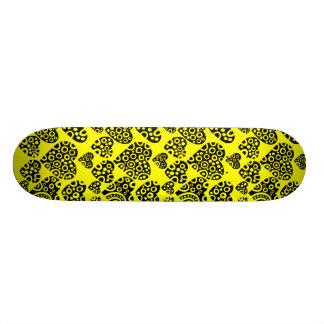 Hearts on Yellow 21.3 Cm Mini Skateboard Deck