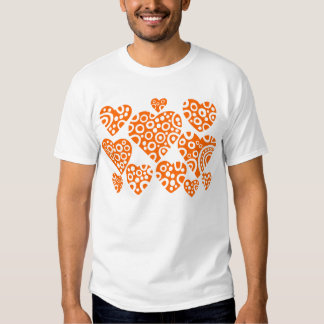 Hearts - Orange T-shirt