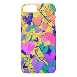 Hearts Ornate Colorful Artistic Bright Dramatic iPhone 8/7 Case