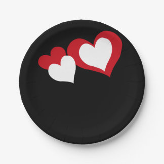 Hearts Paper Plate