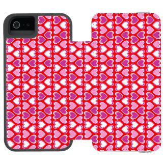 Hearts pattern incipio watson™ iPhone 5 wallet case