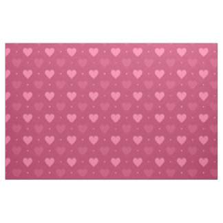 Hearts Pattern Pink & Red (Love & Valentine) Fabric