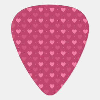 Hearts Pattern Pink & Red (Love & Valentine) Guitar Pick