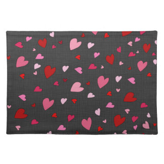 Hearts pattern placemat