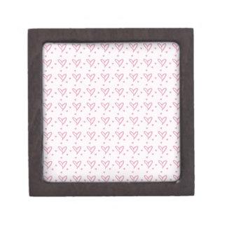 Hearts Pattern Premium Trinket Boxes