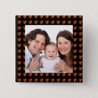 Hearts/photo 15 Cm Square Badge