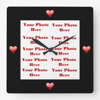 Hearts Photo Frame Wall Clock