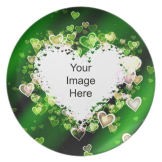 Hearts Photo Template Plate