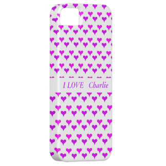 hearts pink purple, selectable text iPhone 5 covers
