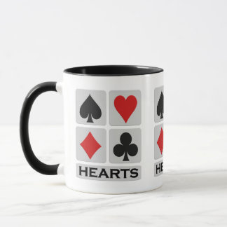 Hearts Player mugs - choose style & color