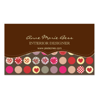 Hearts/Polka Dots Chocolate  business cards