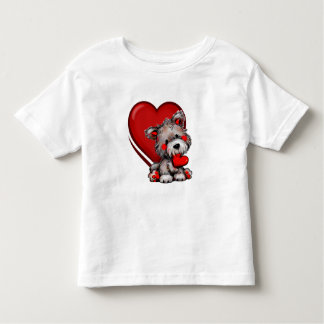 HEARTS PUPPY LOVE T SHIRT FOR TODDLERS
