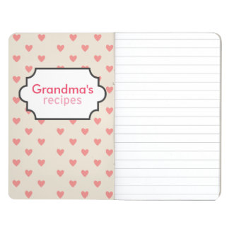 Hearts Recipe Collection Journal