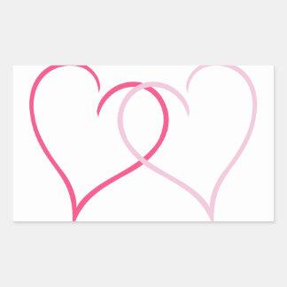 Hearts Rectangular Sticker