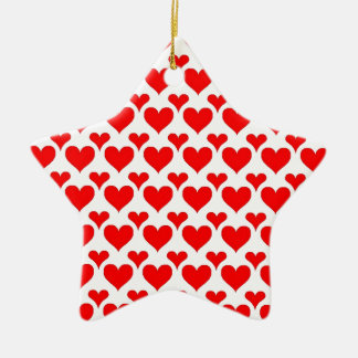 hearts red ornaments