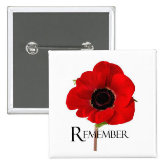 Hearts Remember Remembrance Day Button