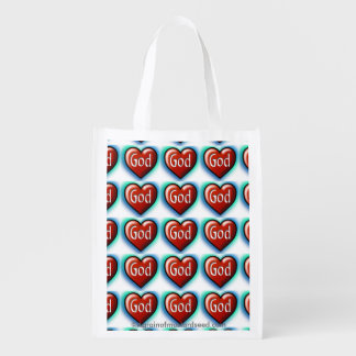 Hearts Reusable Grocery Bags