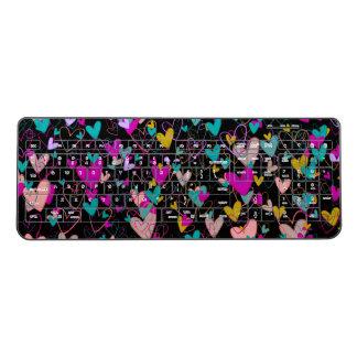 Hearts Romantic Dramatic Love Powerful Artistic Wireless Keyboard