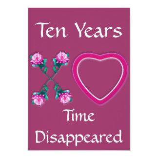Hearts & Roses X's & O's 13 Cm X 18 Cm Invitation Card