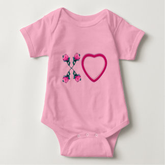 Hearts & Roses X's & O's Baby Bodysuit
