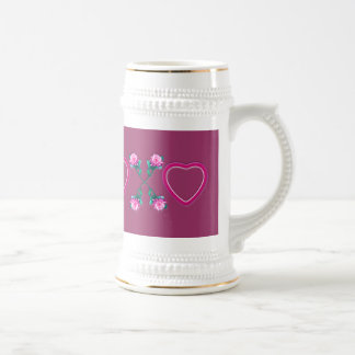 Hearts & Roses X's & O's Beer Steins