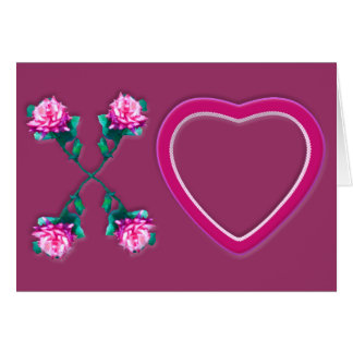 Hearts & Roses X's & O's Note Card