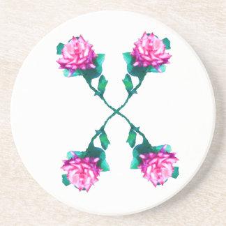 Hearts & Roses X's & O's Drink Coaster
