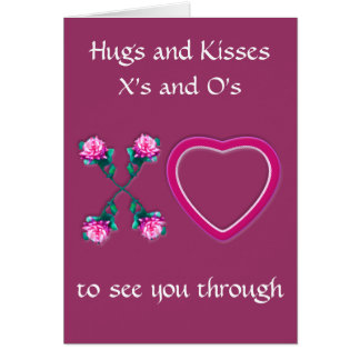 Hearts & Roses X's & O's Greeting Card