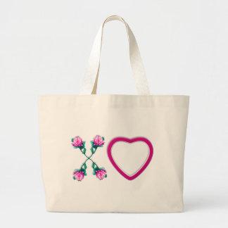 Hearts & Roses X's & O's Jumbo Tote Bag