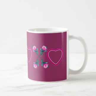 Hearts & Roses X's & O's Basic White Mug