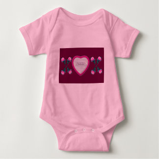 Hearts & Roses X's & O's Photo Frame Baby Bodysuit