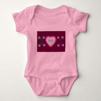 Hearts & Roses X's & O's Photo Frame Baby Bodysuit