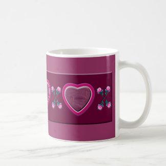 Hearts & Roses X's & O's Photo Frame Basic White Mug