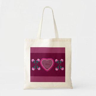 Hearts & Roses X's & O's Photo Frame Budget Tote Bag