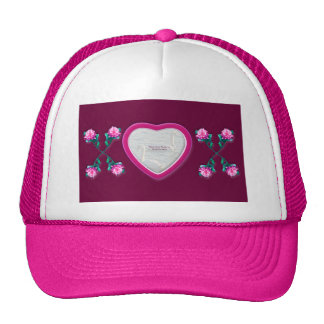 Hearts & Roses X's & O's Photo Frame Mesh Hat