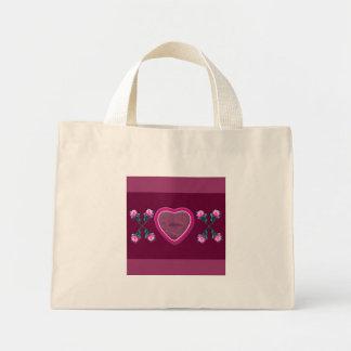 Hearts & Roses X's & O's Photo Frame Mini Tote Bag