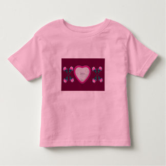 Hearts & Roses X's & O's Photo Frame Toddlers Tee