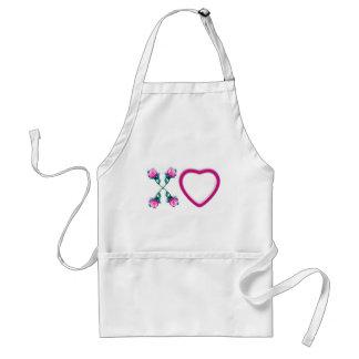 Hearts & Roses X's & O's Standard Apron