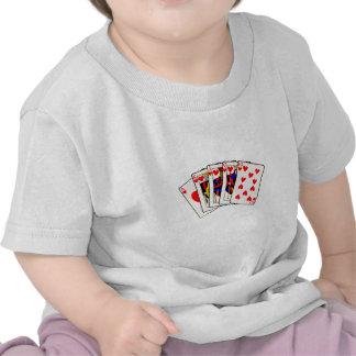Hearts Royal Flush T Shirts