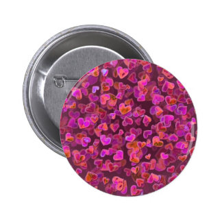 Hearts Scatter 6 Cm Round Badge