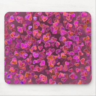 Hearts Scatter Mouse Pad