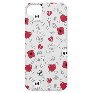 Hearts Skulls And Crossbones Doodles iPhone5 Case iPhone 5 Cover