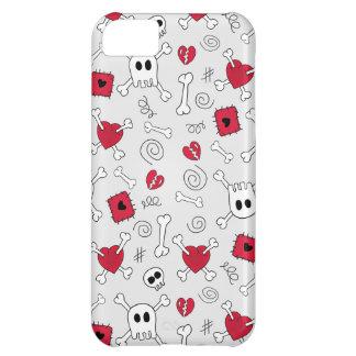 Hearts Skulls And Crossbones Doodles iPhone5 Case iPhone 5C Cases