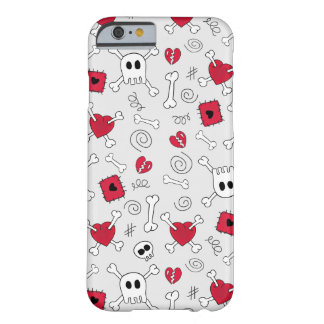 Hearts Skulls And Crossbones Doodles iPhone 6 case Barely There iPhone 6 Case