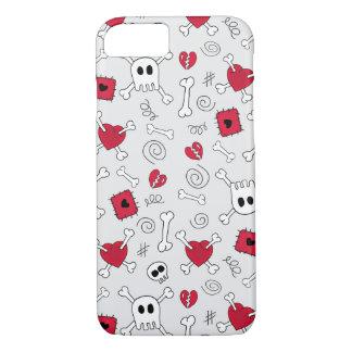 Hearts Skulls And Crossbones Doodles iPhone 7 case