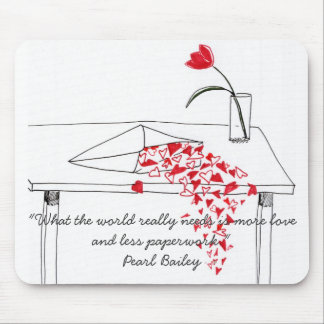 Hearts Spilling Over Mousepad