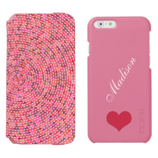Hearts Spiral pink Incipio Watson wallet case Incipio Watson™ iPhone 6 Wallet Case