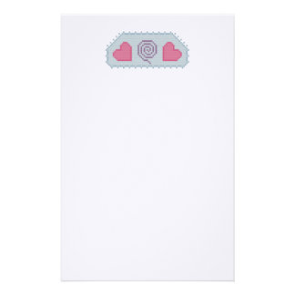 Hearts Spiral Stationery