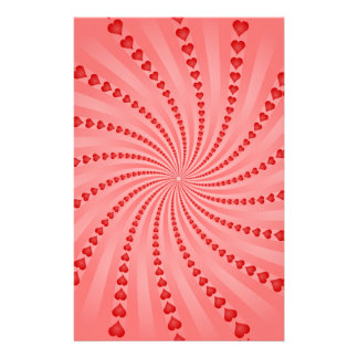 Hearts Spiral: Vector Artwork: Personalized Stationery