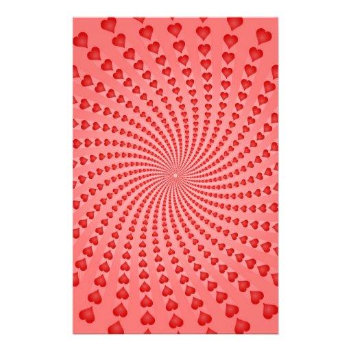 Hearts Spiral: Vector Artwork: Custom Stationery